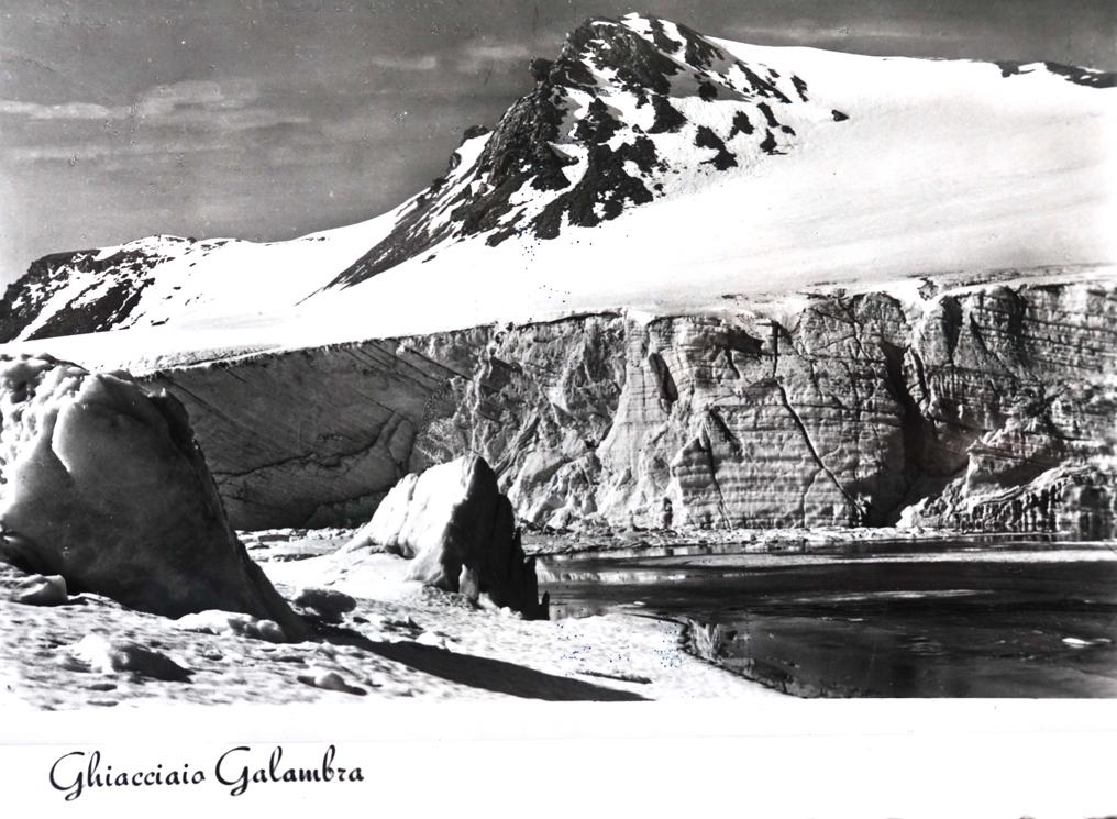Vecchia veduta del ghiacciaio del Galambra